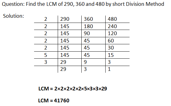 how to find hcf by division method